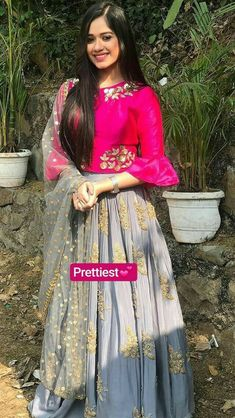 Black l anarkali Choli Designs, Lehenga Designs, Saree Blouse Designs, Indian Designer Outfits, Indian Outfits, Designer Dresses, Party Wear Lehenga, Party Wear Dresses, Indian Gowns Dresses