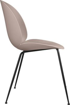 GUBI BEETLE UN-UPHOLSTERED DINING CHAIR CONIC BLACK CHROME BASE - (Choose Colour)