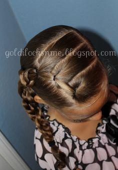Super Cute multi ponytail side braid.