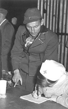 Hartmann after his release from a Soviet war prisoners' camp. A shadow of the man he used to be...