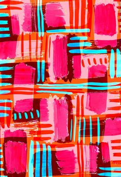 love the bright colours in this print: Turquoise Pop - Sarah Bagshaw