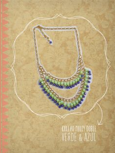 -Just Love- COLLAR MOLLY DOBLE <3  www.facebook.com/just.love.accesorios