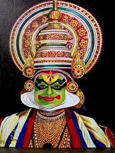 Kerala Mural Painting, Buddha Painting, Painting Canvas, Kathakali Face, Face Outline, Rajasthani Art, Drawing Skills, Lord Krishna, Art Drawings Sketches