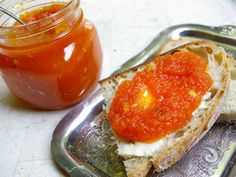 Carrot Confiture made with Cognac and almonds.