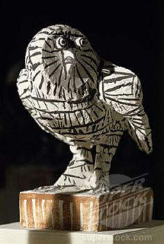 Owl by Pablo Picasso, Ceramic, Stock Photo Pablo Picasso, Picasso Art, Sculptures Céramiques, Sculpture Art, Modern Sculpture, Cubist Movement, Ceramic Owl, Pottery Sculpture, Art Carved