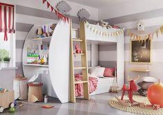 Kinderbett Mädchen, Jungs, Hochbett Mädchen, Kinderzimmer Ideen Für Jungen,  Jugendzimmer Ideen,