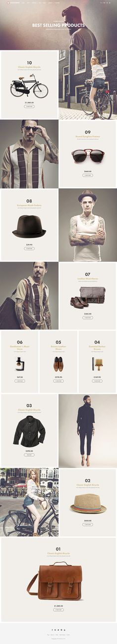 Buy Shopkeeper - eCommerce WordPress Theme for WooCommerce by getbowtied on ThemeForest. When You Start With An Awesome Product, You Can Create Amazing Things! Built with the eCommerce functionality in mind. Layout Web, Website Layout, Layout Design, Hipster Chic, Outfits Inspiration, Website Design Inspiration, Interface Web, Interface Design, Design Web