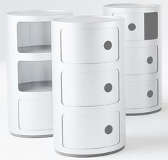 Shop the Kartell Componibili Round Storage Tower by Kartell at A practical storage solution for any home. Available in multiple colors. Modular Storage, Space Saving Storage, Museum Of Modern Art, Storage Solutions, 3, Black And White, Bedroom Ideas, Deco, Home