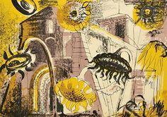 stilllifequickheart:  John Piper Sunflowers at Marignac 1956