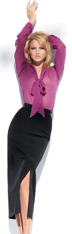 Anna Tokarska for Madeleine ! Office Fashion, Business Fashion, Work Fashion, High Fashion, Womens Fashion, Fashion Trends, Style Work, Work Chic, My Style