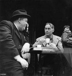 Charles Laughton and Franchot Tone, actors.