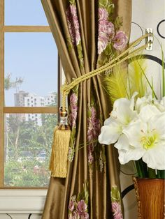 Make a luxurious statement in your room with these panels in romantic blooms. silk plus delicate floral embroidery create a charming paradise of flowers. Silk Curtains, Camellia, Floral Embroidery, Bloom, Delicate, Rainbow, Romantic, Top, Home Decor