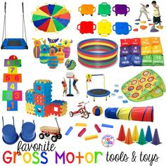 My favorite gross motor toys and tools for indoor and outdoor recess your little learners (preschool, pre-k, and kindergarten) will LOVE! Music Toys For Toddlers, Musical Toys For Kids, Toys For Boys, Children Toys, Montessori Toys, Preschool Toys, Educational Toys For Preschoolers, Montessori Bedroom, Montessori Toddler