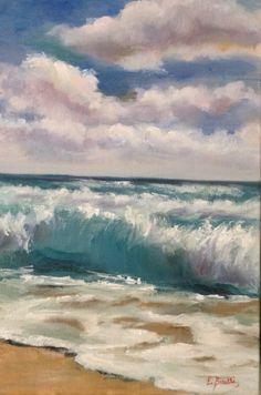Sento il mare, olio su tela, oil painting, 20x30