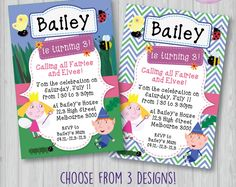 Ben and Holly's Little Kingdom Invitation, Ben and Holly's Little Kingdom Birthday Party, Ben and Holly Invite, Ben and Holly Little Kingdom