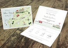 Personalised Wedding Or Party Map Card from notonthehighstreet.com