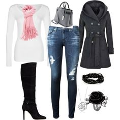 winter chic by katiegould62 on Polyvore featuring polyvore moda style G-Star AG Adriano Goldschmied GUESS Michael Kors BERRICLE