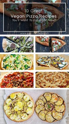 Whether you're vegan or not, I promise you will love these amazing vegan pizza recipes! You won't miss meat or cheese at all! Check them out! | http://gourmandelle.com/vegan-pizza-recipes/ | #vegan #pizza
