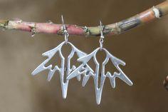 Gypsy Jewelery, Bohemian Earrings, Dangle Silver Earrings, Boho Jewelry, Silver Color Handmade Item by ZeyCollection on Etsy