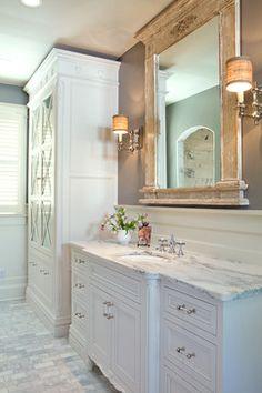 Custom Bathroom linen cabinet