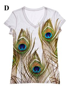 woman peacock feather print  top t shirt by by hellominky on Etsy, $28.95 http://www.etsy.com/listing/119201516/woman-peacock-feather-print-top-t-shirt?ref=br_feed_24&br_feed_tlp=women