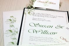 Maple Leaf To Have and To Hold  Wedding Invitation Suite SAMPLE by Lemon Square Designs. $4.00, via Etsy.