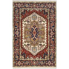 Ecarpetgallery Hand-knotted Serapi Heritage / Brown Wool Rug