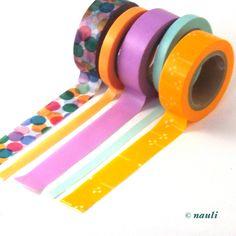 Adhesive Washi Tape Set of 5 - Nauli Loves