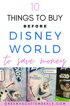 Things to buy before Disney World to save money. Travel hacks you need to see before your next Disney vacation. If you purchase these things before you leave for Orlando, you can save your family a lot of money. The first 2 will have you prepared for Florida weather, and the 4th item is an absolute must have. Important travel advice to make the most out of your next Disney trip. #ThingsToBuyBeforeDisneyWorld #DisneyPlanning #DisneyWorld #DisneyTips #DisneyPackingTips #WaltDisneyWorld…