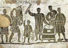 Mosaic of merchants, Ostia antica