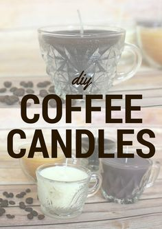 #DIY Hot Cocoa and Coffee Candles--make in minutes!