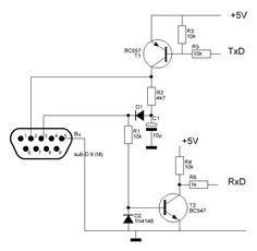 Circuito Conversor RS232 para Arduino