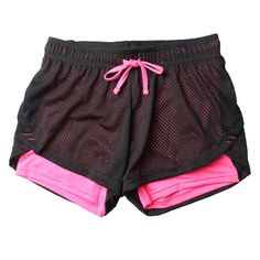 2b67d9b5ed5c Two Pieces Mesh Compression Sports Shorts Women Hot Quick Dry Yoga And Running  Shorts New Gym