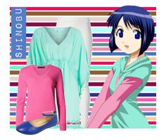 """Love hina: Shinobu"" by laurablima-1 ❤ liked on Polyvore featuring Rick Owens Lilies and Melissa Odabash"