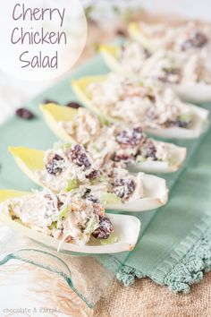 Cherry Chicken Salad made with Greek Yogurt. Quick, easy and a healthier version of a classic.