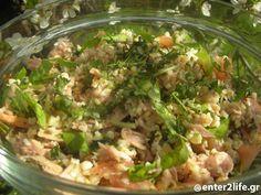 Σαλάτα με πλιγούρι, τόνο, λαχανικά και φρέσκα αρωματικά  www.enter2life.gr