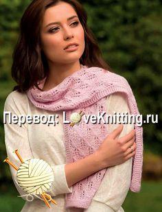 Ажурный шарф узором Sari, Knitting, Diy, Fashion, Saree, Moda, Tricot, Bricolage, Fashion Styles