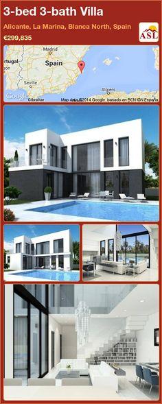 3-bed 3-bath Villa in Alicante, La Marina, Blanca North, Spain ►€299,835 #PropertyForSaleInSpain