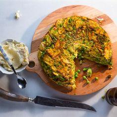 Spring Pea and Arugula Matzo Brei Recipe | Tasting Table