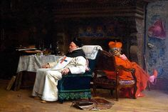 Jehan Georges Vibert (1840-1902) — The Schism, 1875 (1024x682)