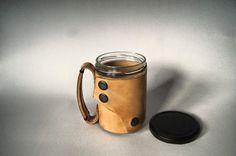 cana cu capac coffe time Leather Accessories, Mugs, Coffee, Metal, Tableware, Gifts, Kaffee, Dinnerware, Presents