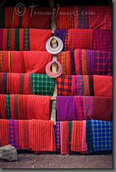 See the World Through Pattern and Colour, Mto Wa Mbu, Tanzania - Handicrafts for sale at a...