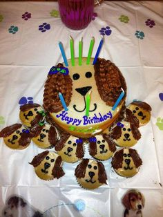 Birthday cake for puppy lovers