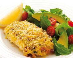 This crispy, crumbed fish dish ticks all the boxes for a delicious dinner in next to no time. Vegetable Bread, Vegetable Seasoning, Meat And Cheese, Macaroni And Cheese, Food In A Minute, Grilled Fish, Fish Dishes, Ticks, Fish Recipes