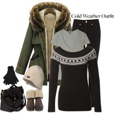 """Cold Weather Outfit"" by debbiedew on Polyvore"