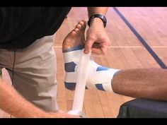 How to Tape an Ankle (Quick & Easy Demonstration) Coaching Volleyball, Basketball Drills, Ankle Taping, Softball, Lacrosse, Baseball, Rugby Training, Sports Therapy, Sprained Ankle