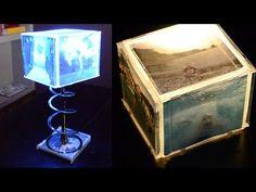 Cómo Construir Una Lámpara Marco Con Cajas De CD (Tutorial) - YouTube