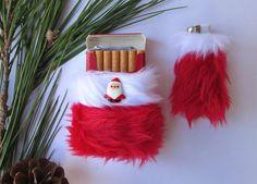 Christmas Gift for Smoker Girly Santa Cigarette Case by Kerenika