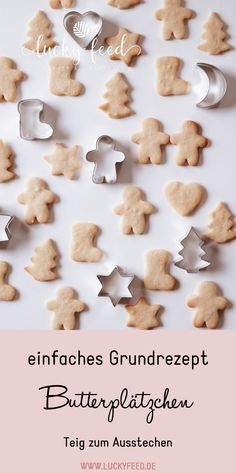 simple basic recipe – tender, buttery butter cookies Christmas cookies – dough to cut out Baby Food Recipes, Cookie Recipes, Butter Cookies Christmas, Baby Snacks, Biscuits, Chard Recipes, Sweet Bakery, Baking With Kids, Butter Recipe