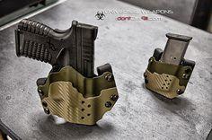 Custom Kydex owb holster OD green on Etsy, $125.00